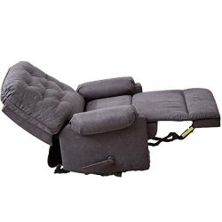 BONZY HOME Recliner, Manual Reclining Chair with Upgrade Frame and Soft Microfiber Cloth Support ...