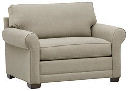 Stone & Beam Kristin Chair-and-a-Half Upholstered Sleeper Sofa, 55.5″W, Sand