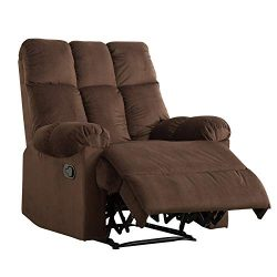 Mecor Recliner Chair Manual Reclining Chair Fabric Quilted Padded Single Sofa Chair for Living R ...