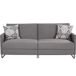 Giantex Futon Sofa Bed with Backrest & Armrest, Convertible Recliner Couch, Modern Splitback ...