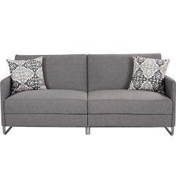 Giantex Futon Sofa Bed with Backrest & Armrest, Convertible Recliner Couch, Modern Splitback ...