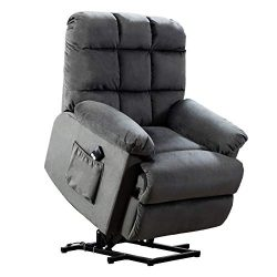ANJ Power Lift Recliner Chair for Elderly with Over Stuffed Armrest and Comfort Broad Backrest,  ...