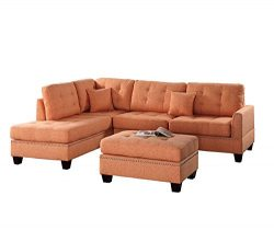 Poundex F6506 PDEX-F6506 Upholstered Sofas/Sectionals/Armchairs, Citrus