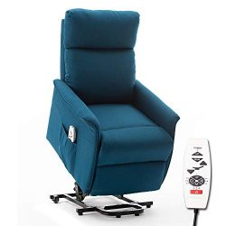 ERGOREAL Lift Chair, Heat and Massage Recliner, Electric Power Lift Recliner for The Elderly.(Bl ...