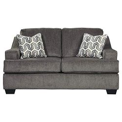 Ashley Furniture Signature Design – Gilmer Chenille Upholstered Loveseat w/Accent Pillows  ...