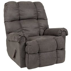 Flash Furniture Riverstone Sierra Graphite Microfiber Rocker Recliner – RS-100-07-GG