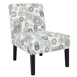Homegear Home Furniture Accent Armless Chair – Contemporary Designs – Mechanical Gears