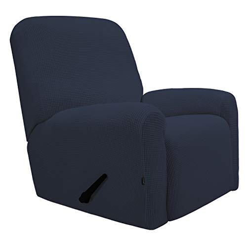 Easy-Going Recliner Stretch Sofa Slipcover Sofa Cover 4-Pieces Furniture Protector Couch Soft wi ...