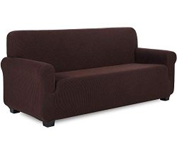 Sapphire Home 3-Piece SlipCover Set for Sofa Loveseat Couch Arm Chair, Form fit Stretch, Wrinkle ...