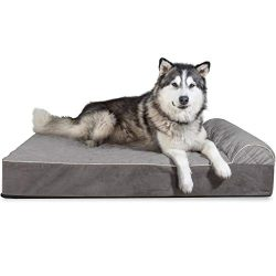 Furhaven Pet Dog Bed | Orthopedic Goliath Quilted Faux Fur & Velvet Chaise Lounge Living Roo ...