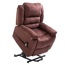 Homegear Microfiber Heavy Duty Dual Motor Power Lift Electric Recliner Chair for Users up to 770 ...