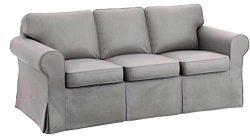 Dense Cotton Sleeper Cover. It Fits Pottery Barn PB Basic Three Seat Sleeper Sofa Bed. A Quality ...