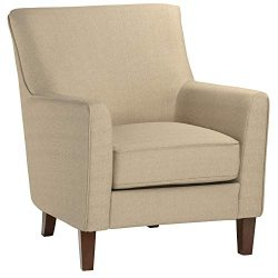 Stone & Beam Cheyanne Modern Accent Arm Chair, 31″W Cobblestone