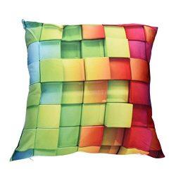 Leyorie Multicolor 3D Print Pillow Cases Polyester Sofa Car Cushion Cover Home Decor (B)