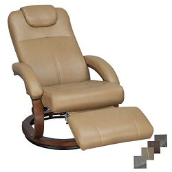 RecPro Charles 28″ RV Euro Chair Recliner Modern Design RV Furniture (1, Toffee)