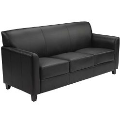 Flash Furniture HERCULES Diplomat Series Black Leather Sofa