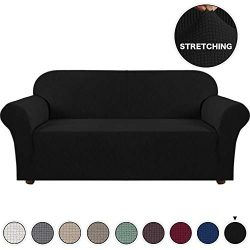 Turquoize Spandex Stretch Slipcover for Loveseat Sofa Cover/Lounge Cover, Anti-Slip Machine-Wash ...