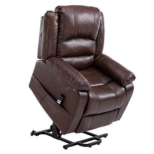 Homegear Air Leather Heavy Duty Dual Motor Power Lift Electric Recliner Chair for Users up to 77 ...