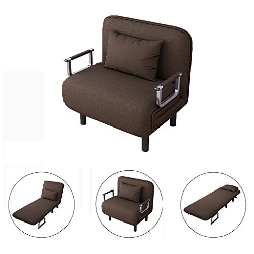 ErYao Convertible Sofa Bed Folding Arm Chair Sleeper, Recliner Full Padded Lounger Couch Bed, Me ...