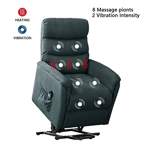 ANJ Power Lift Recliner Chair with Massage,Heat and Vibration – Living Room Chair –  ...