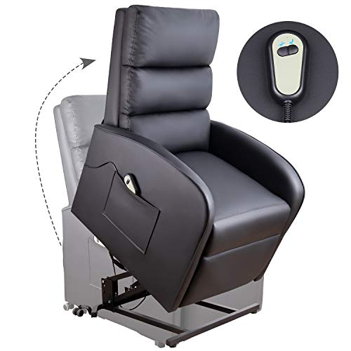 Homall Lift Chair Recliner Chair Electric Power PU Leather Recliner Classic Lounge with Remote C ...