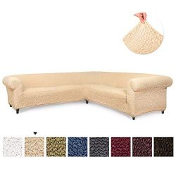 Sectional Sofa Cover – Corner Couch Cover – Corner Slipcover – Soft Polyester  ...