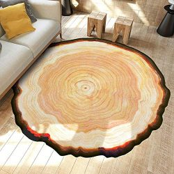 Chenway Floor Carpet Mats for Home Non Slip Annual Ring Print Floor Rug Dining Living Room Bedro ...