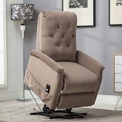 ANJ Power Lift Recliner Chair for Elderly, Heavy Duty Living Room Chair Single Sofa Seat with Re ...
