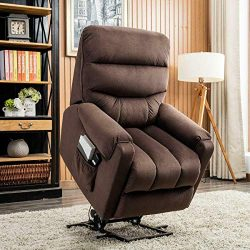 BONZY HOME Lift Recliner Contemporary Power Lift Chair Soft and Warm Fabric with Remote Control  ...