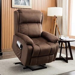 BONZY HOME Power Lift Recliner Chair for Elderly, Electric Recliner Chair with Upgrade Motor and ...