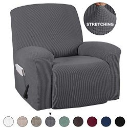 Stretch Recliner Covers With Pockets 1-Pieces Recliner Chair Slipcovers Furniture Cover for Recl ...