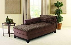 Sure Fit Deluxe Armless Chaise Cover – Chocolate (SF43527)