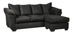 Signature Design by Ashley 7500818 Darcy Sofa Chaise, Black