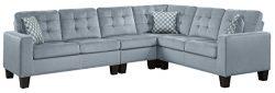 Homelegance Lantana 84″ x 107″ Fabric Sectional Sofa, Gray
