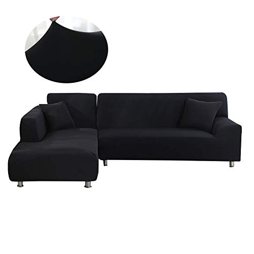 Mingfuxin Sectional Couch Covers L Shape Sofa Slipcover 2 pcs Furniture Protector Sofa Stretch C ...