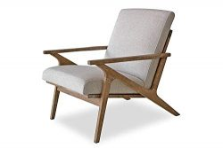 Edloe Finch EF-Z7-LC005W Soren Mid-Century Modern Accent Lounge Chair for Living Room, Swan White