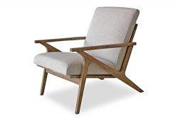 Edloe Finch EF-Z7-LC005W Soren Mid-Century Modern Accent Lounge Chair for Living Room, Swan White