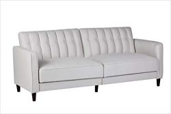 Container Furniture Direct SB-9035 Charlotte Mid Century Modern Tufted Convertible Sleeper Sofa, ...