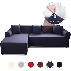 Sand Sofa Slipcover SAFETYON Elastic Sofa Cover Sets L Shape Stretch Furniture Cover Pet Dog Sec ...