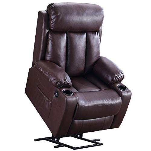 Mcombo Oversized Electric Power Lift Recliner Chair Sofa for Elderly Big and Tall People, 3 Posi ...