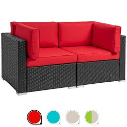 Walsunny 2pcs Patio (Red)