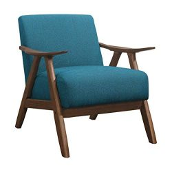 Lexicon Elle Fabric Accent Chair, Blue
