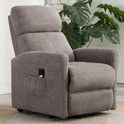 ANJ Power Lift Recliner Chair for Elderly with Remote Control, Heavy Duty Reclining Sofa Soft Fa ...