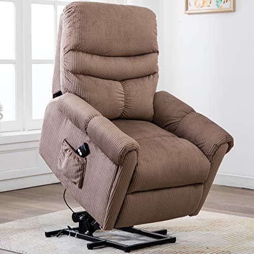 Bonzy Home Electric Power Lift Recliner Chair Sofa for Elderly, Living Room Chair with Overstuff ...