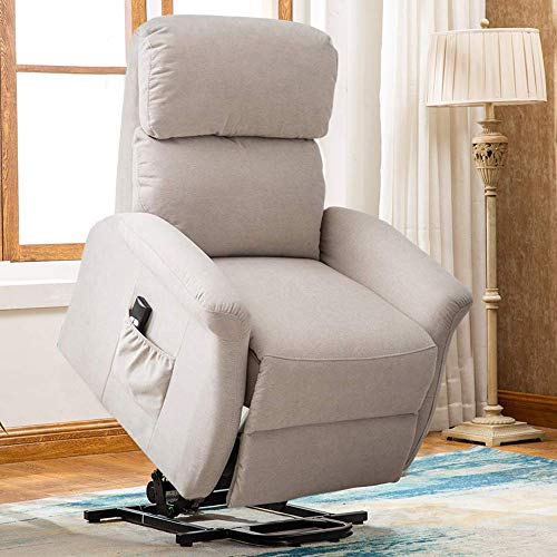 Bonzy Home Lift Chair, 3 Position & Side Pocket, Soft Fabric Power Recliner with Remote, Lif ...