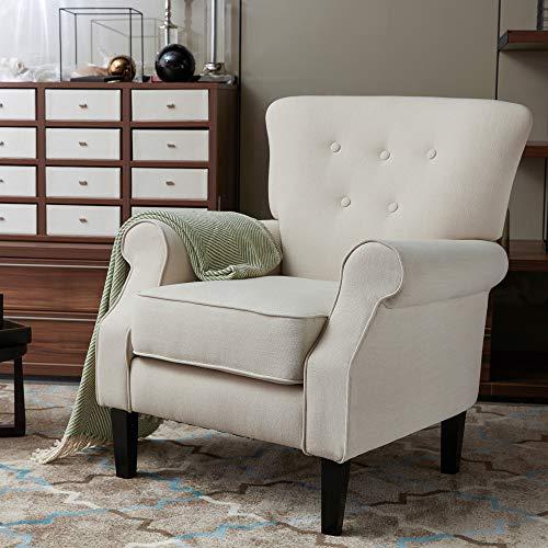 LOKATSE HOME Accent Arm Chair Mid Century Upholstered Single Sofa Modern Comfortable Furniture P ...