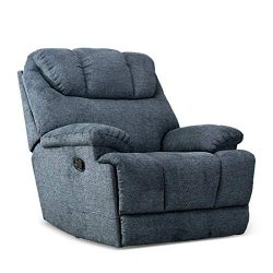 CANMOV Recliner Chair, Microfiber Fabric Living Room Chair, Manual Reclining Single Couch with T ...