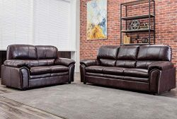FDW Sofa Set Sectional Sofa for Living Room Couch and Sofas PU Leather Loveseat Sofa Contemporar ...