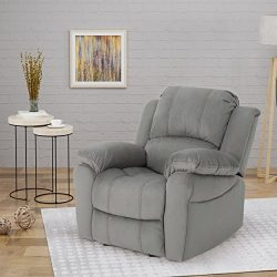 Christopher Knight Home 304654 Edwin Recliner, Grey + Black