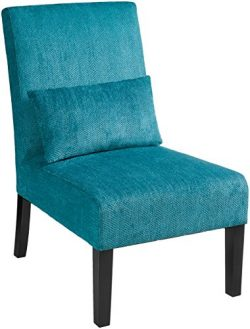 Red Hook Martina Contemporary Upholstered Armless Accent Chair with Back Pillow – Caribbea ...